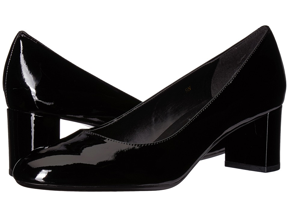 Vaneli Pomona (Black Patent) 1-2 inch heel Shoes