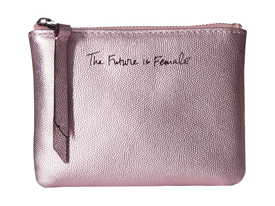 Rebecca Minkoff - Betty Pouch - The Future Is Female (Metallic Pink) Travel Pouch