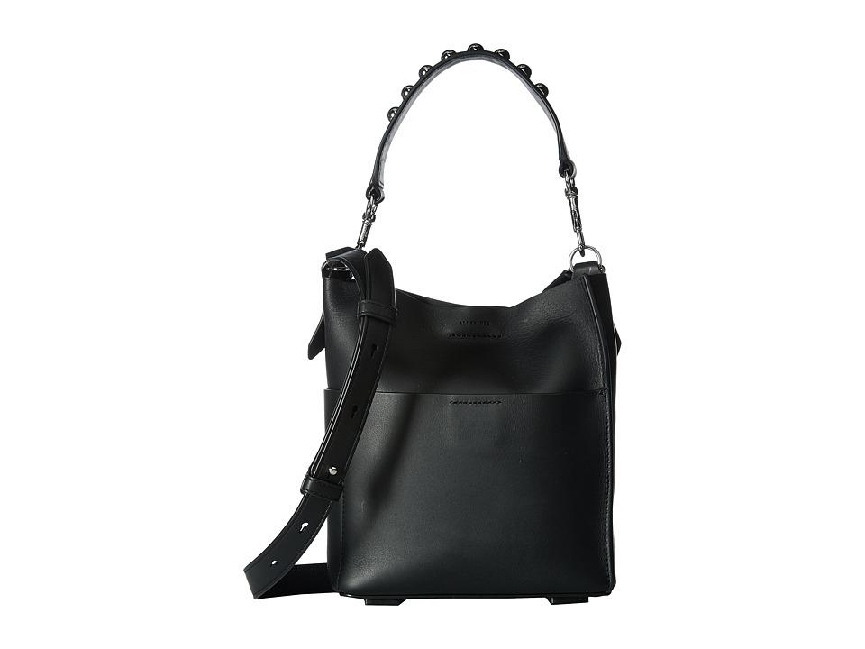 AllSaints - Suzi Mini Tote (Black) Tote Handbags