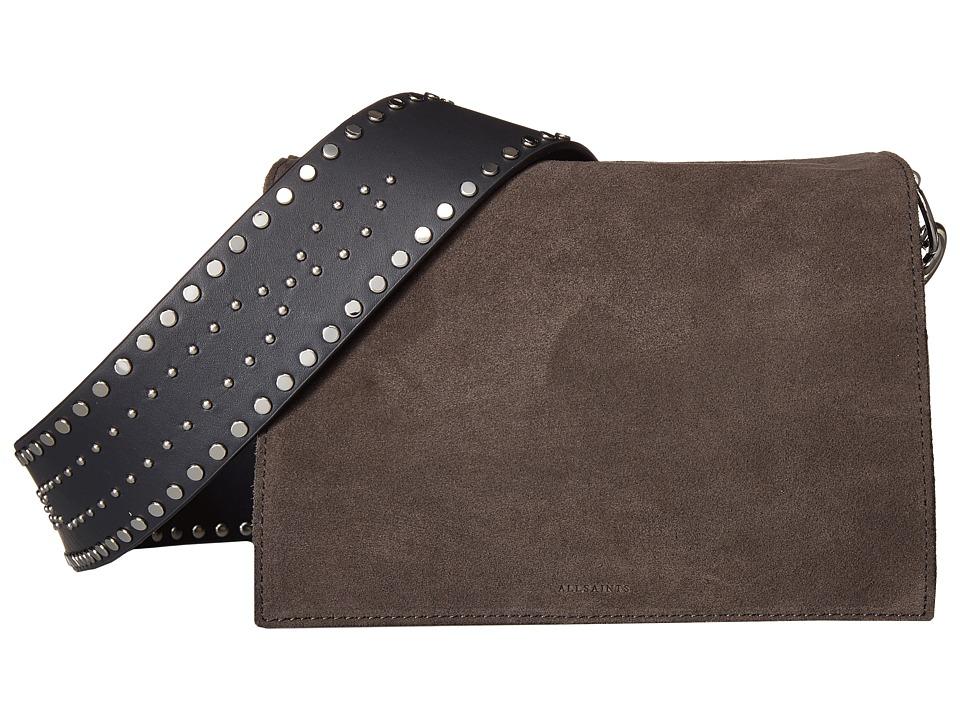 AllSaints - Billie Mini Crossbody (Slate/Grey) Cross Body Handbags