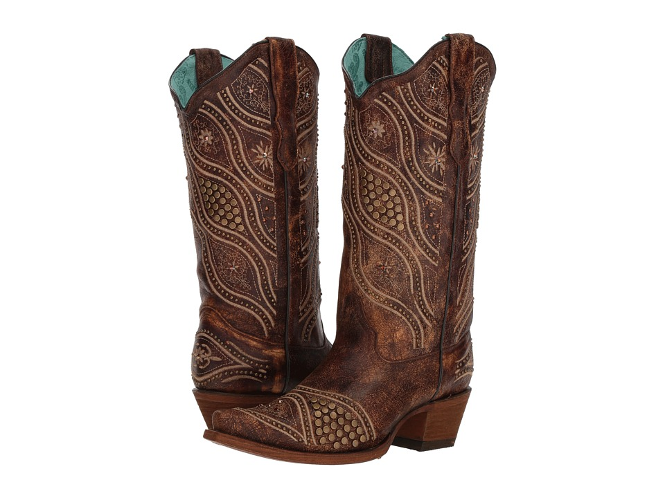 Corral Boots - E1274 (Brown) Cowboy Boots