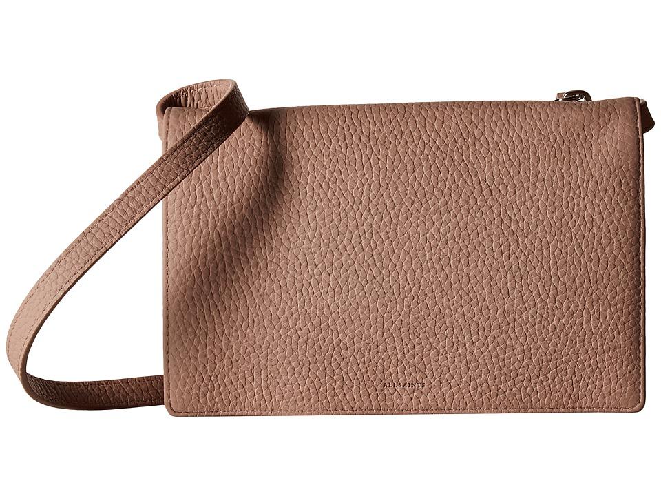 AllSaints - Fetch Wallet Crossbody (Blush/Pink) Cross Body Handbags