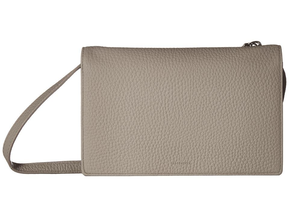 Allsaints Fetch Wallet Crossbody (Taupe/Grey) Cross Body Handbags NU3wXNbIbA