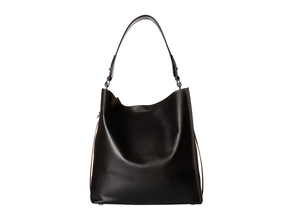 AllSaints - Paradise North/South Tote (Black) Tote Handbags