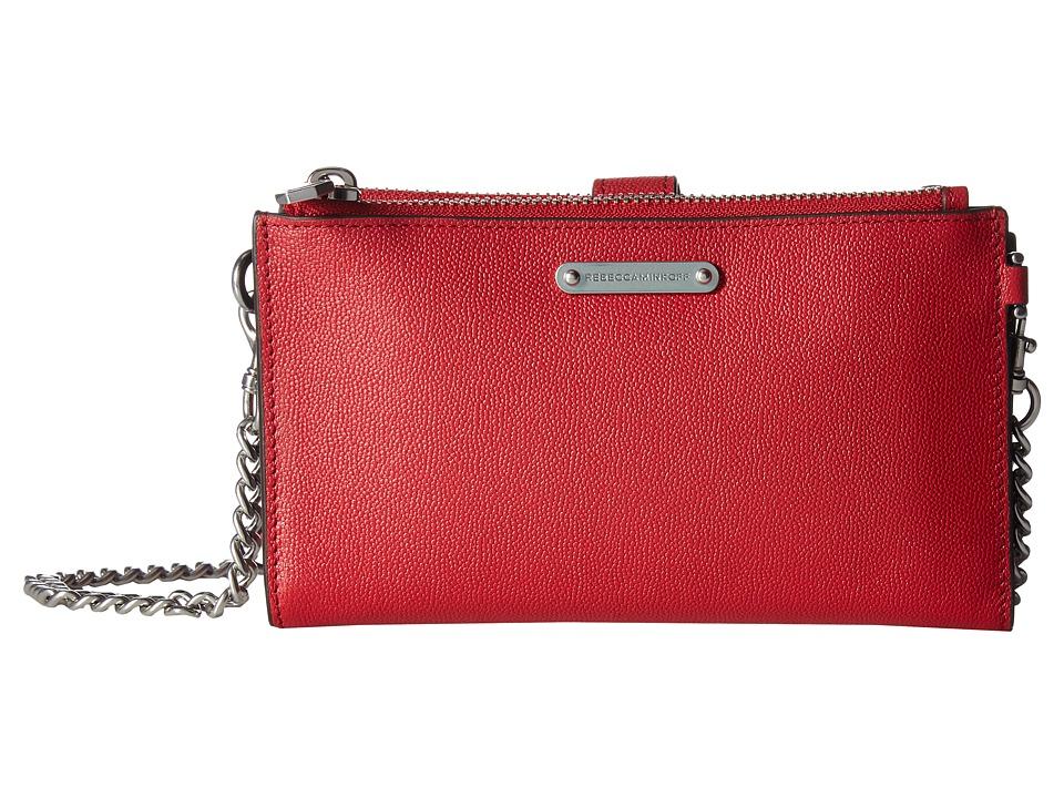 Rebecca Minkoff - Bifold Wallet Crossbody (Scarlet) Wallet Handbags