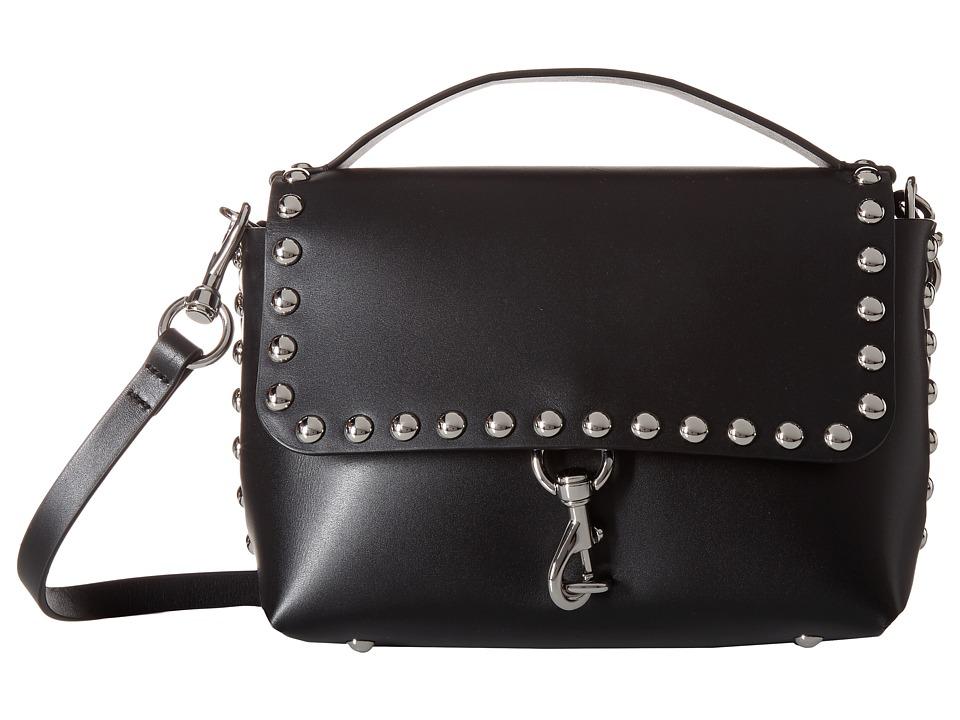 Rebecca Minkoff - Blythe Medium Flap Crossbody (Black) Cross Body Handbags