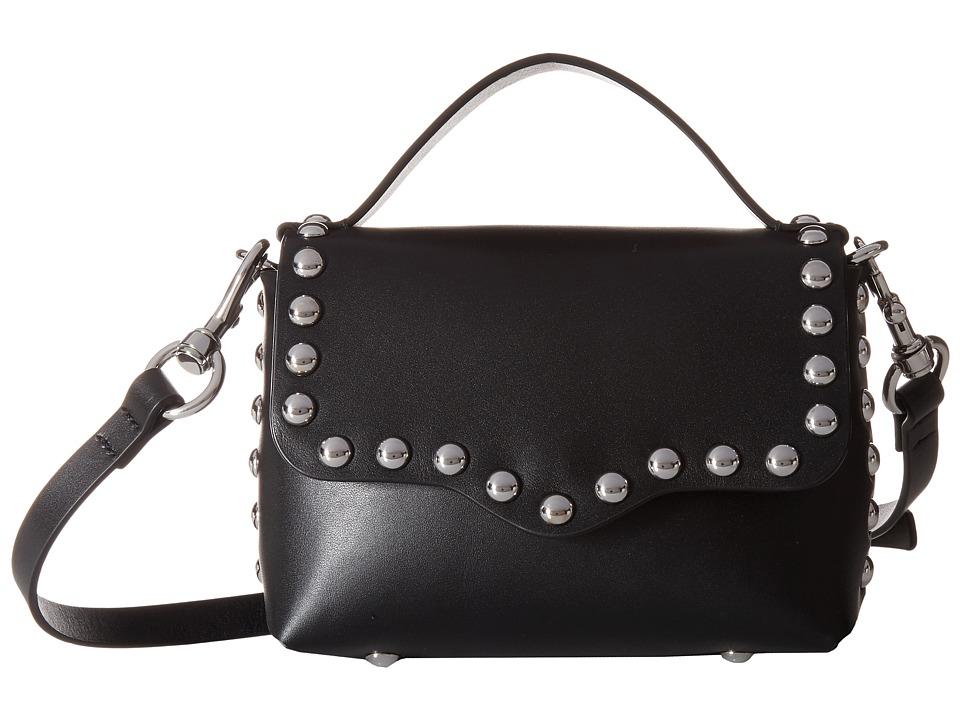 Rebecca Minkoff - Blythe Small Flap Crossbody (Black) Cross Body Handbags