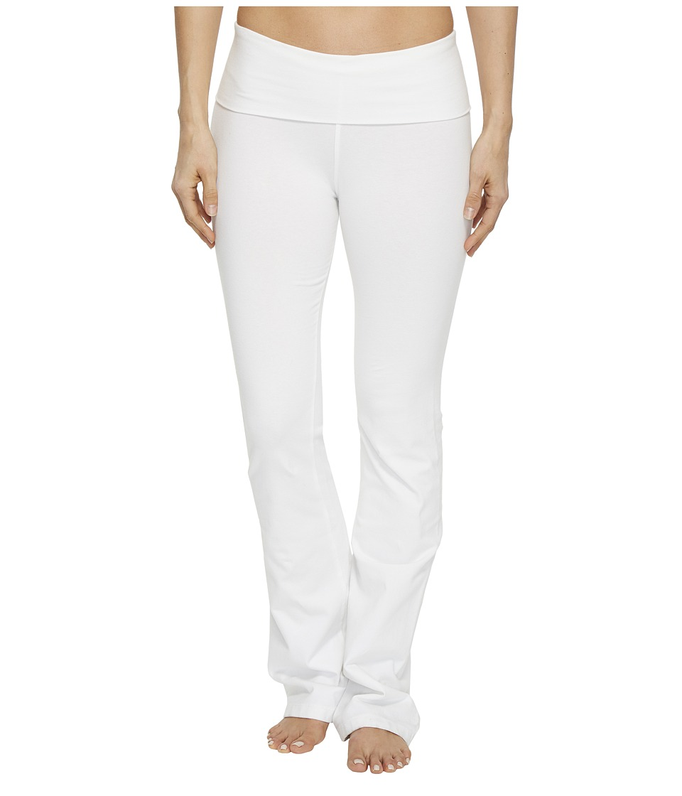 Hard Tail Rolldown Bootleg Flare Pants (White) Women