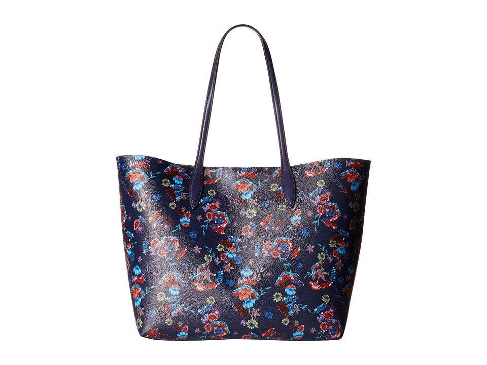 Rebecca Minkoff - Heather Large Tote (Floral Blue) Tote Handbags