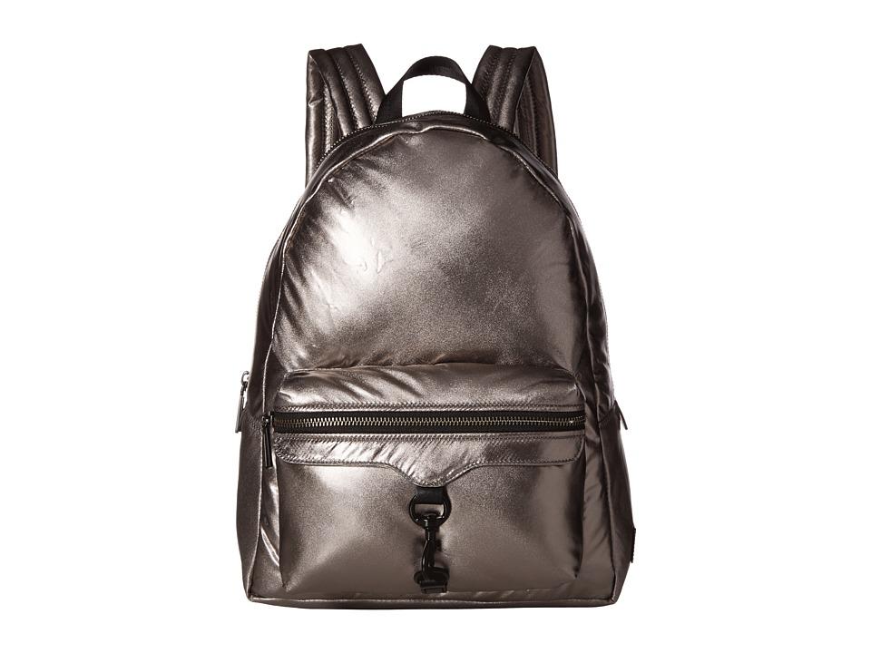 Rebecca Minkoff - Riley Puffy Backpack (Silver) Backpack Bags