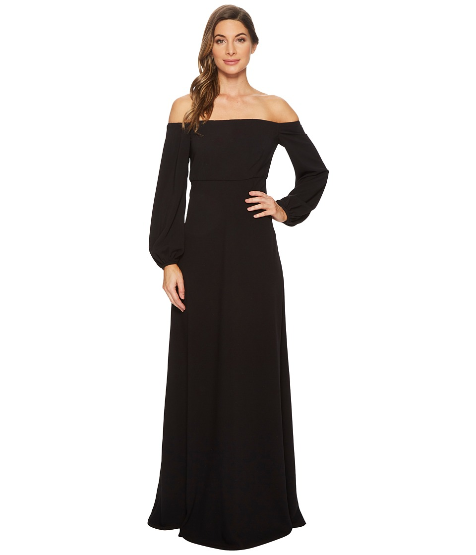JILL JILL STUART - Off the Shoulder Gown (Black) Womens Dress