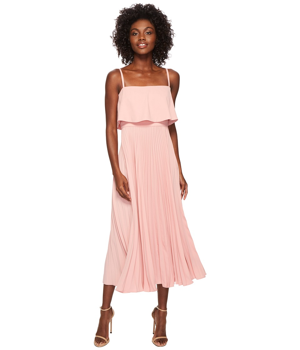 JILL JILL STUART - Pleated Popover Midi Dress (Rose Water) Womens Dress