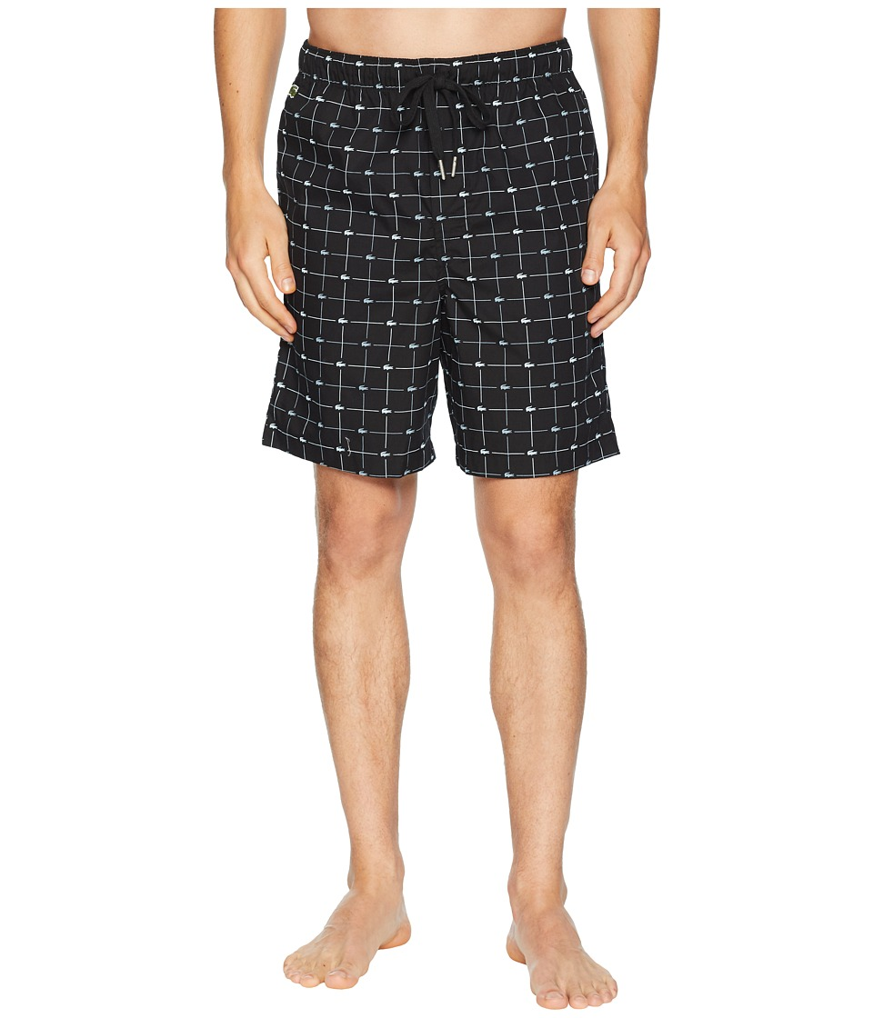 Lacoste - Sleep Shorts Woven (Black) Mens Pajama