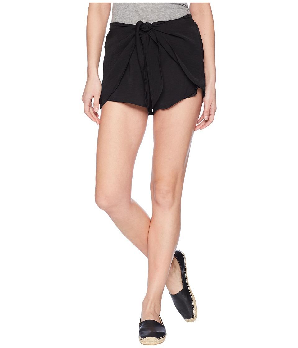 Jack by BB Dakota - Quinn Tie Front Shorts (Black) Womens Shorts
