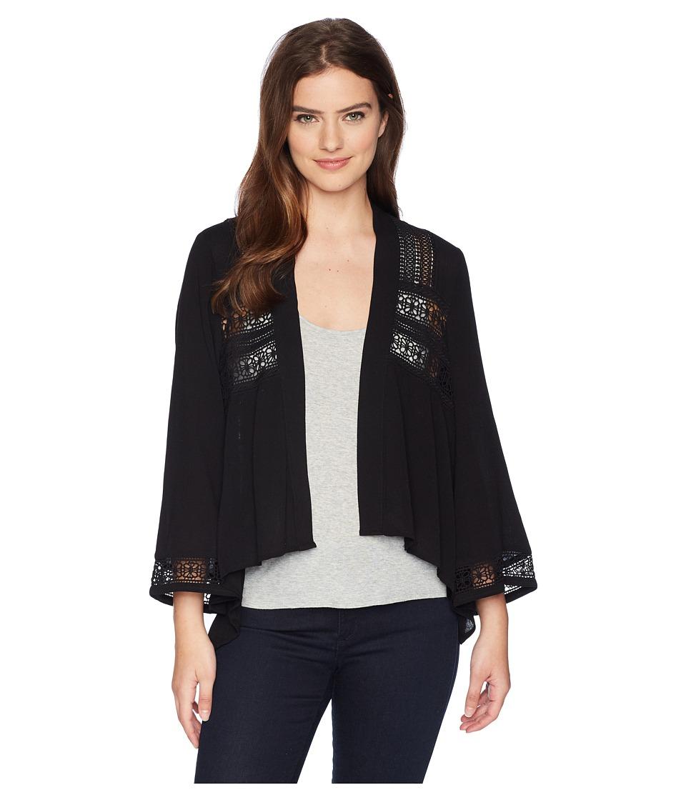 Jack by BB Dakota - Layla Jacket with Lace Trim (Black) Womens Coat