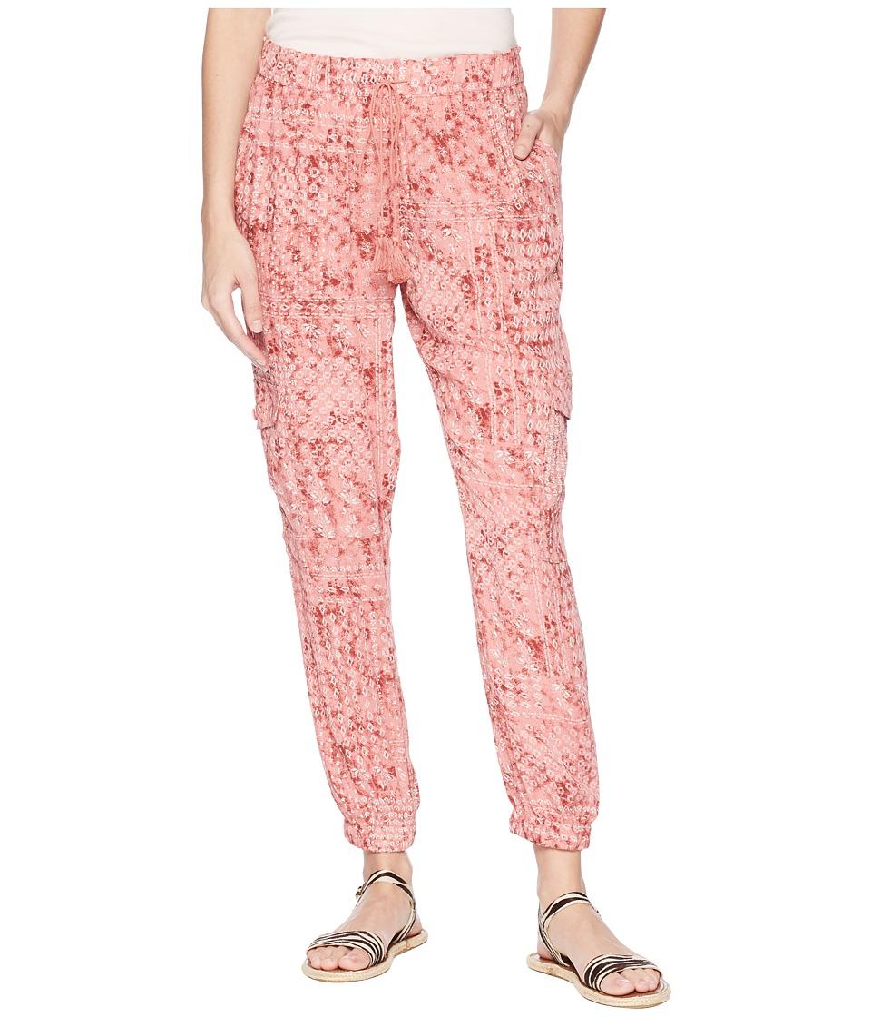 Jack by BB Dakota - Kylie Beach Batik Printed Pants (Rosette Pink) Womens Casual Pants