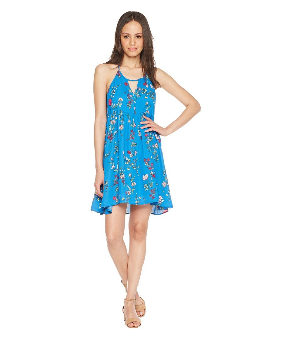 Jack by BB Dakota - Maliyah Super Bloom Printed Dress (Azure Blue) Womens Dress