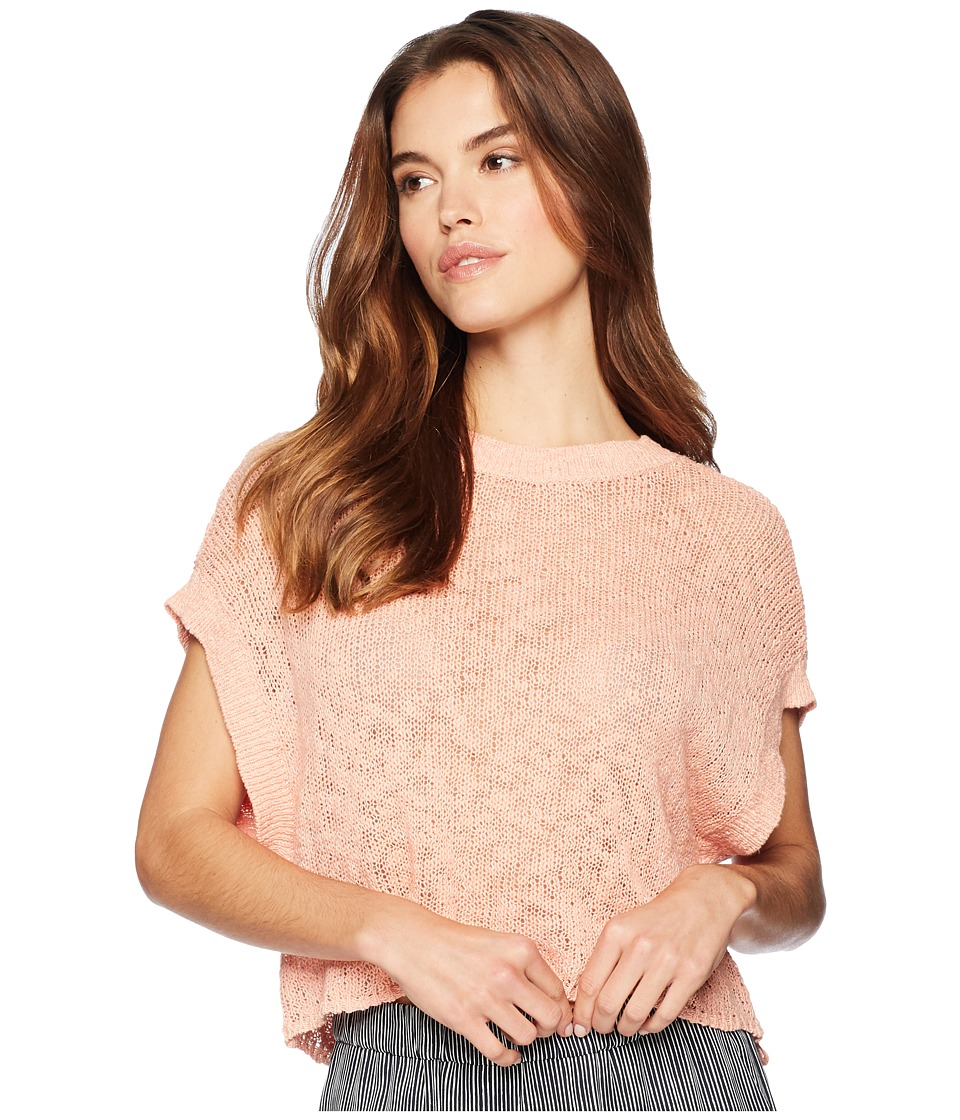 Jack by BB Dakota - Nadia Back Lace-Up Sweater (Coral Pink) Womens Sweater
