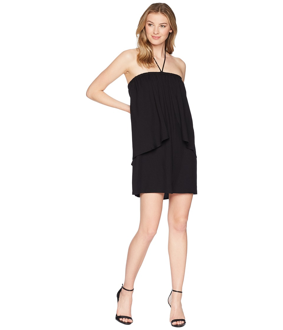 Jack by BB Dakota - April Dual Layer Halter Dress (Black) Womens Dress