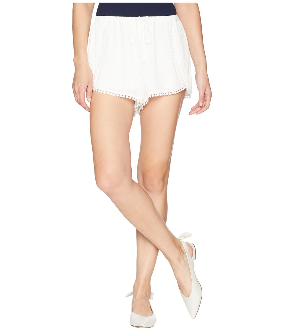Jack by BB Dakota - Caroline Shorts with Circular Trim (Bright White) Womens Shorts