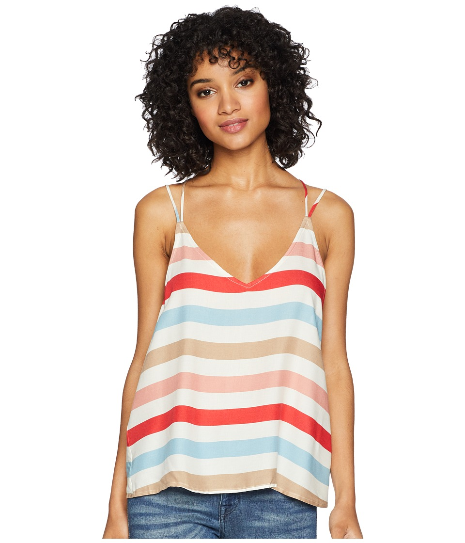 Jack by BB Dakota - Miranda Beach Ball Stripe Printed Top (Hibiscus Red) Womens Clothing