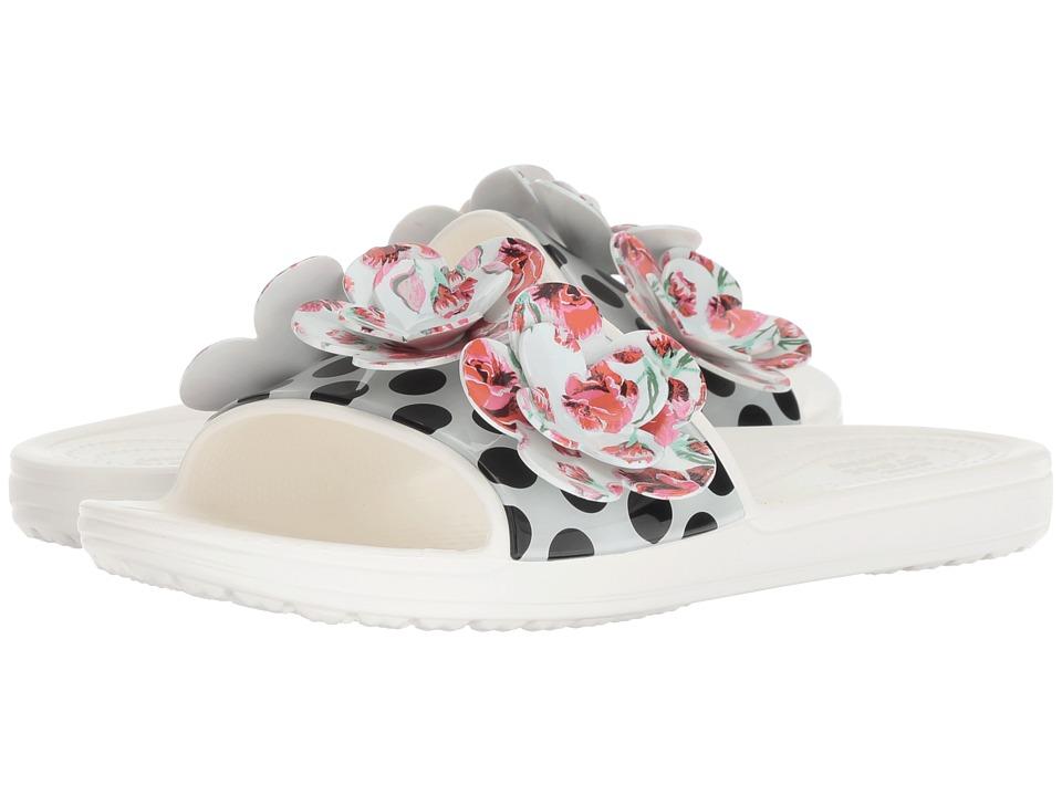 Crocs Sloane Timeless Roses Slide (White) Slides