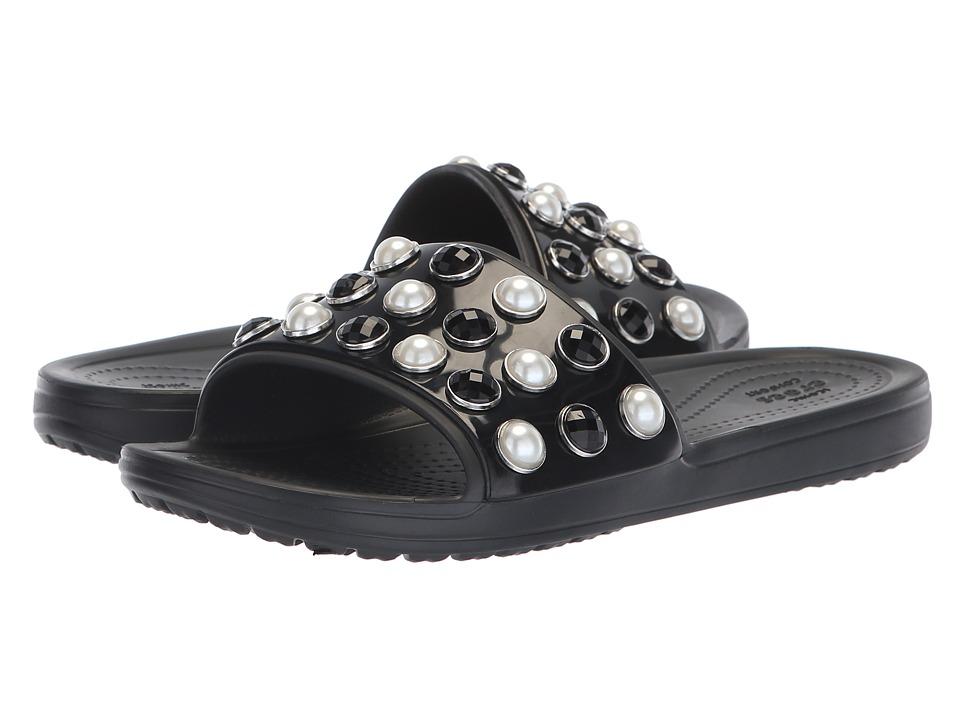 Crocs Sloane Timeless Pearl Slide (Black) Slides