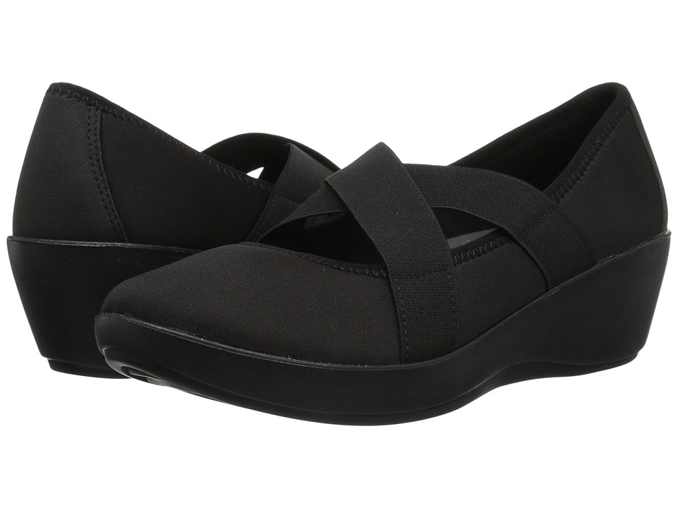 Crocs Busy Day Strappy Wedge (Black/Black) Wedges