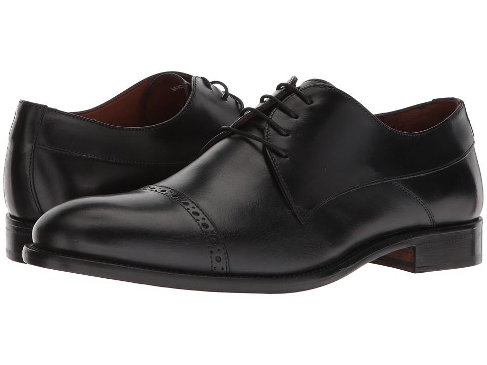 Massimo Matteo 4-Eye Cap Toe 18 (Black) Men's Lace Up Cap Toe Shoes