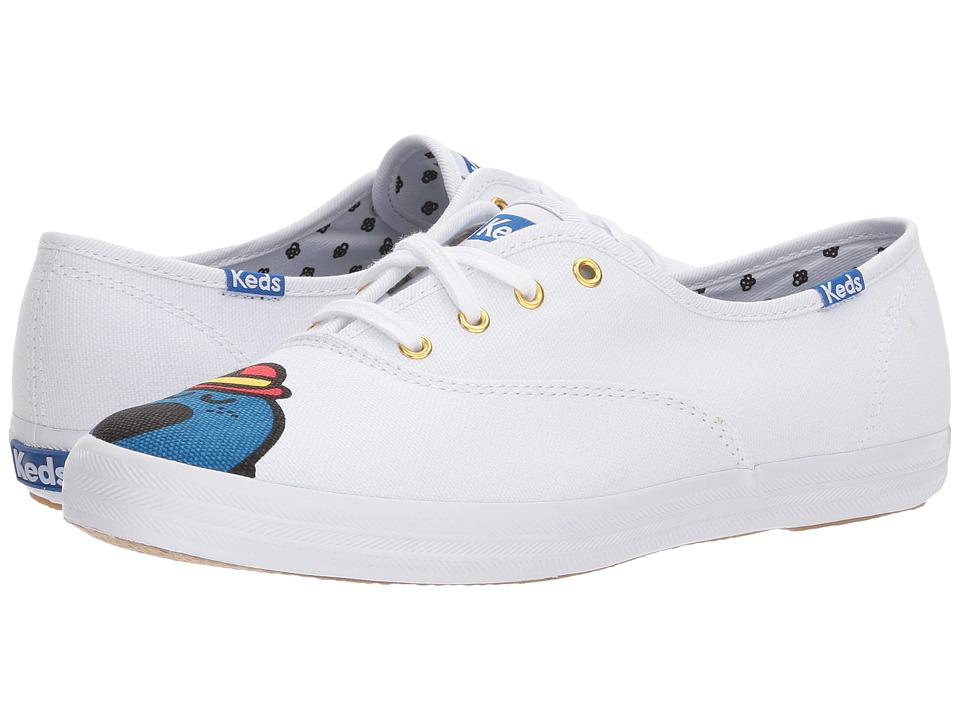 Keds - Champion Little Miss Bossy (Blue Multi Canvas) Womens Lace up casual Shoes