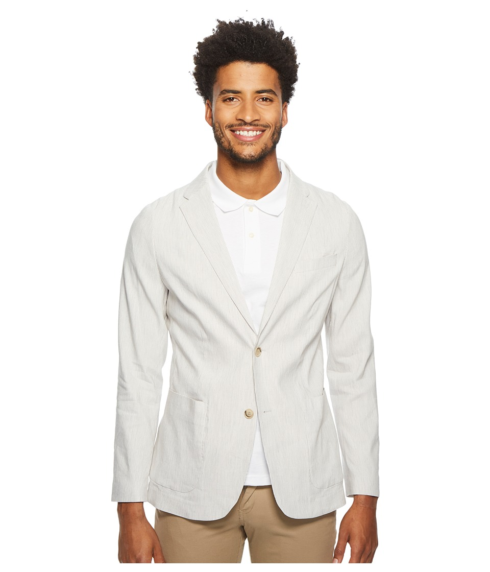 Perry Ellis Slim Fit Linen Sport Jacket (Natural Linen) M...