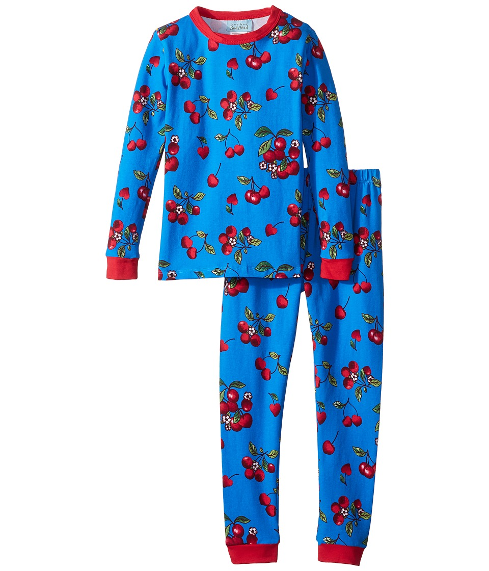 BedHead Kids - Long Sleeve Two-Piece Set (Toddler/Little Kids) (Teal Cherries in Bloom) Girls Active Sets