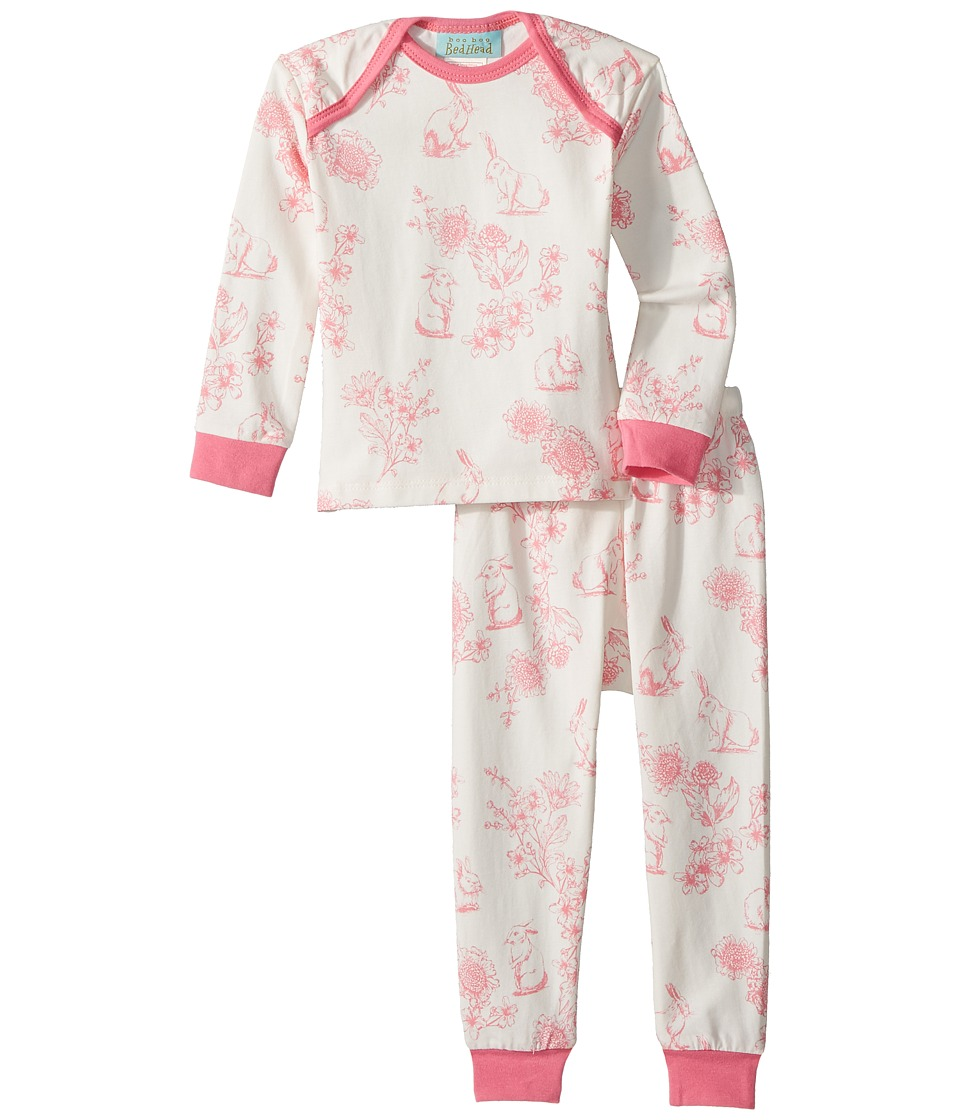 Image of BedHead Kids - Long Sleeve Baby Two-Piece Set (Infant) (Cotton Tail) Girl's Active Sets