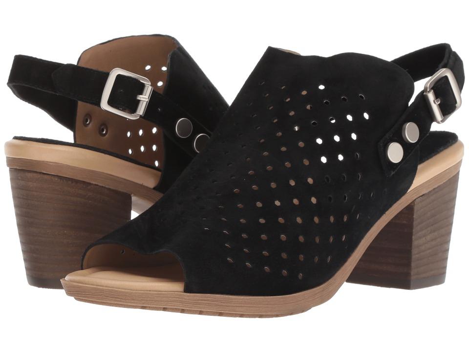 Vaneli Marnee (Black Scamo/Matte Silver Trim) 1-2 inch heel Shoes