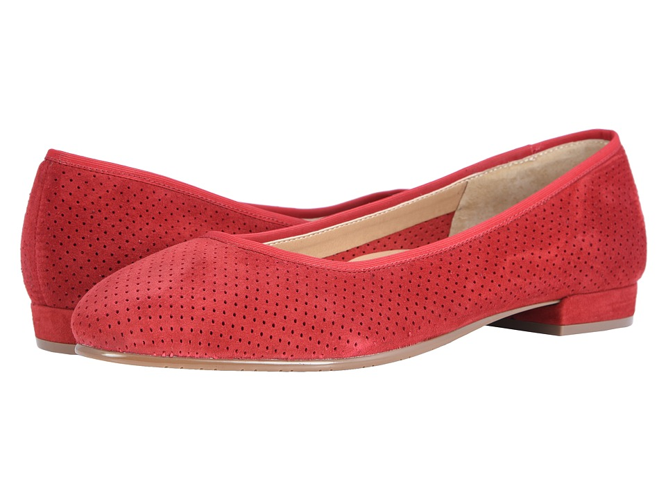 Vaneli Ulanda (Red Perf Suede/Match Elastic) Wedges