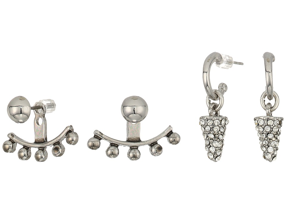 GUESS - 9 on Mixed Earrings Set (Silver/Blue) Earring