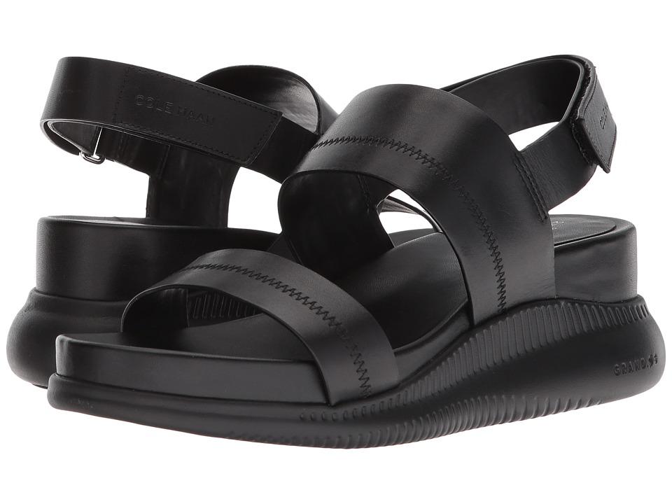 Cole Haan 2.Zerogrand Slide Sandal (Black Leather/Black) Women