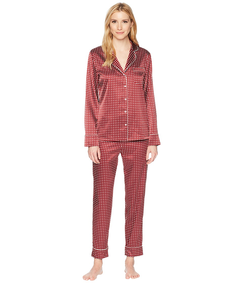Stella McCartney - Poppy Snoozing - Long PJ Set (Red Polka Dot) Womens Pajama Sets