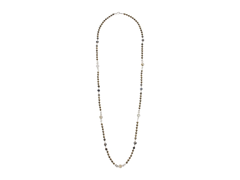 CHAN LUU Layering Necklace with Semi Precious Beads and C...