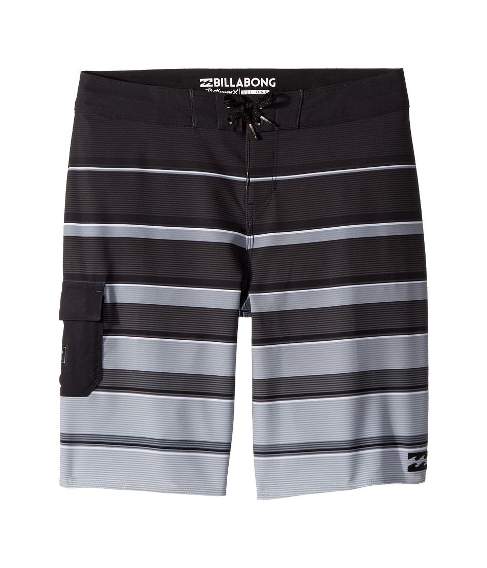 Billabong Kids All Day X Stripe Boardshorts (Big Kids) (Black) Boy