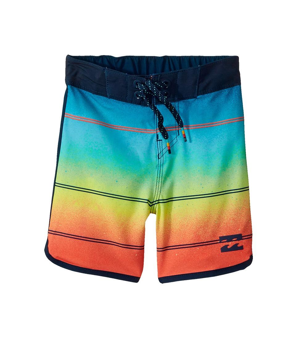 Billabong Kids 73 X Stripe Boardshorts (Big Kids) (Orange) Boy