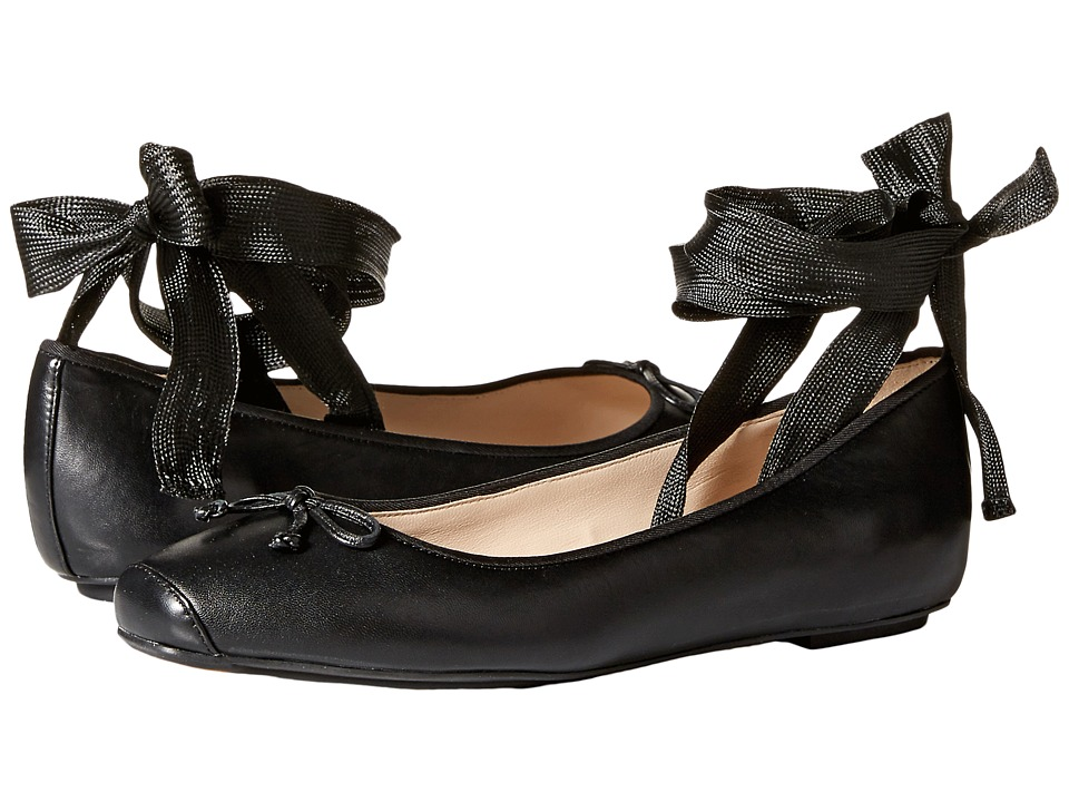 Cole Haan Downtown Ballet (Black Leather) Women's Shoes