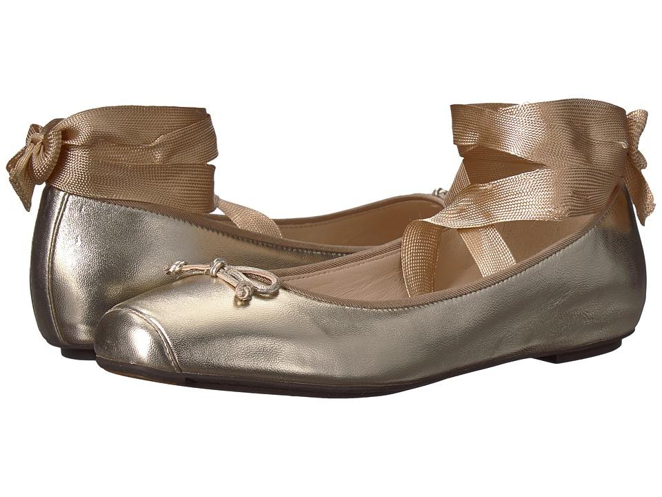 Cole Haan Downtown Ballet (Gold Metallic Leather) Women