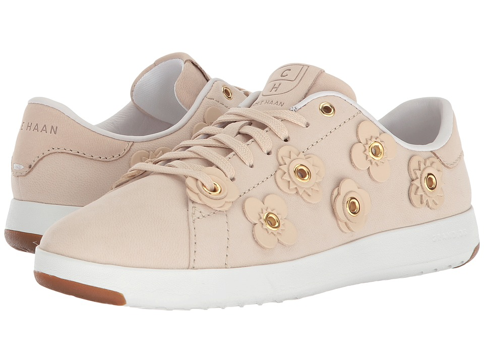 Cole Haan - Grandpro Tennis (Brazilian Sand Nubuck/Brazilian Sand Leather Flowers/Optic White) Womens Lace up casual Shoes
