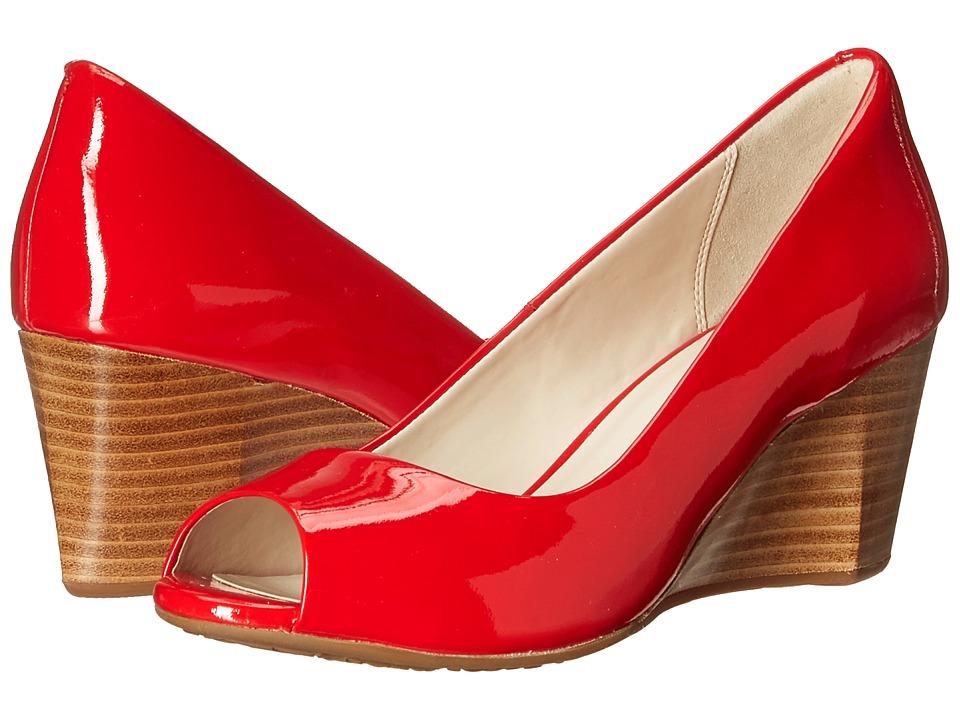Cole Haan Sadie Open Toe Wedge 65mm (Aura Orange Patent) Wedges