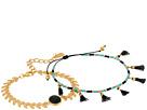 Chan Luu Chan Luu Chevron and Tassel Adjustable Bracelets