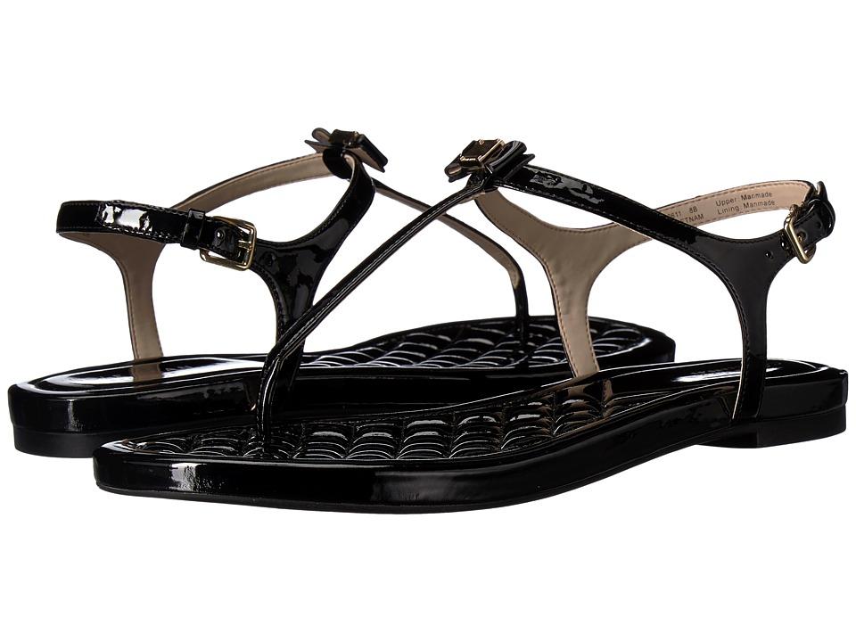 Cole Haan Tali Mini Bow Sandal (Black Patent) Sandals