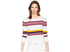Jil Sander Navy Jil Sander Navy Long Sleeve Knit with Mixed Stitches and Colors