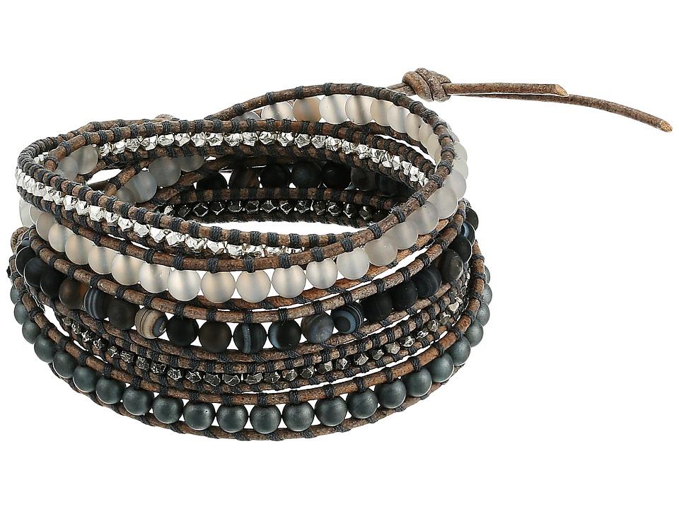 CHAN LUU 33 Wrap Bracelet (Matte Hematite Mix) Bracelet