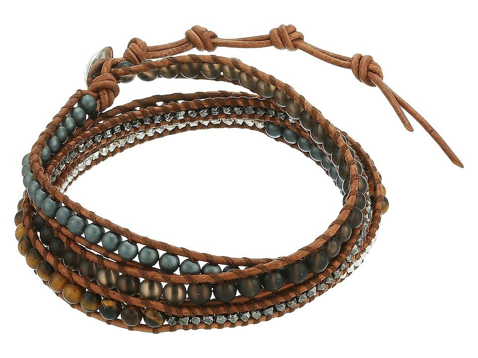 CHAN LUU 33 Wrap Bracelet (Matte Picasso Jasper Mix) Brac...